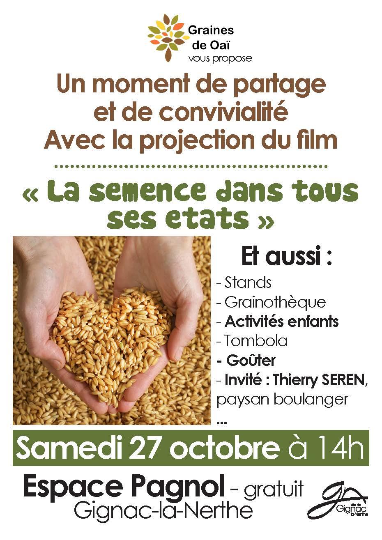 """Projection du Film """"La semence dans tous ses états"""""""
